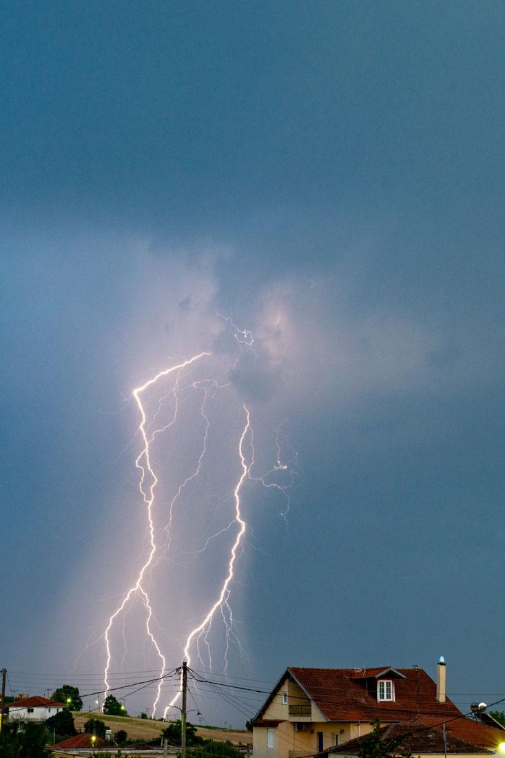 Beautiful lightning Alonia Greece