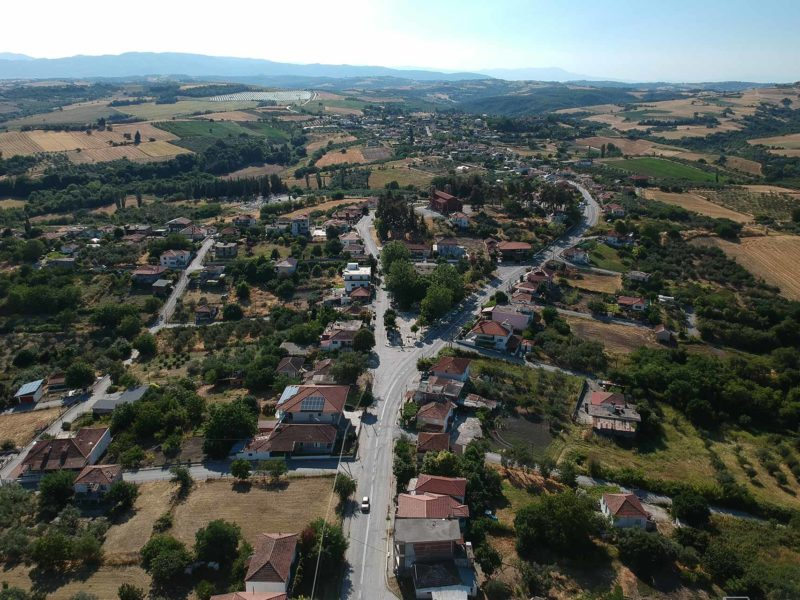 Alonia from above greece katerini