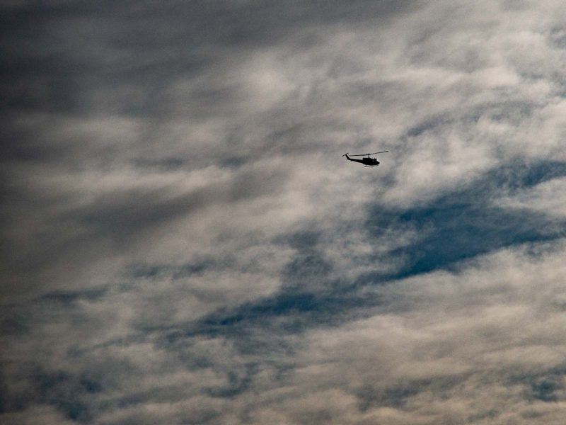 helicopter over alonia