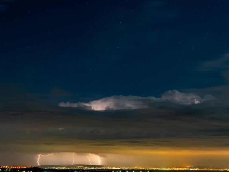 A thunderstorm over Thessaloniki
